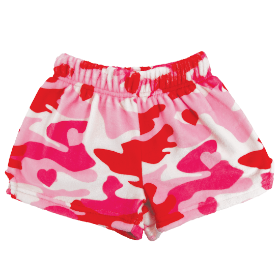 Picture of Camo Hearts Plush Shorts