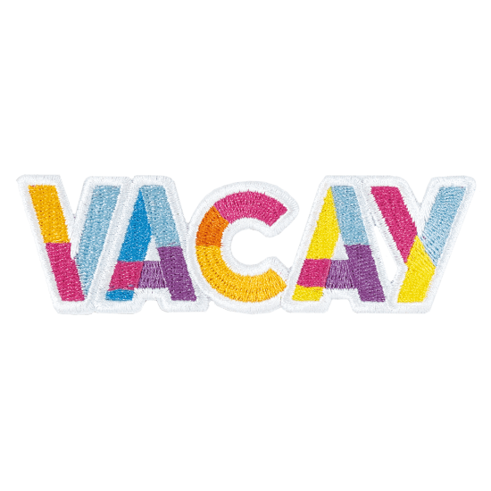Picture of Vacay Embroidered Sticker Patch