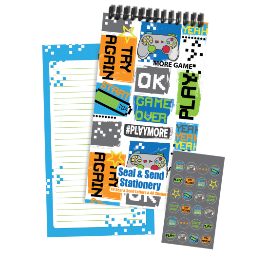 Picture of Gaming Collage Seal & Send Stationery