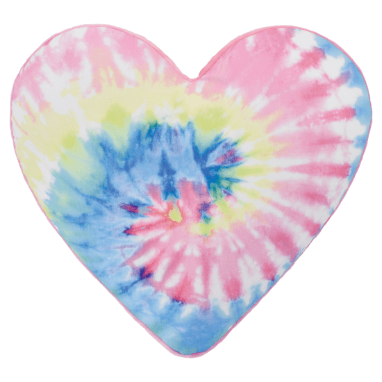 Pastel Tie Dye Heart Pillow