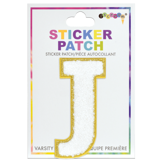 Picture of J Initial Varsity Sticker Patch