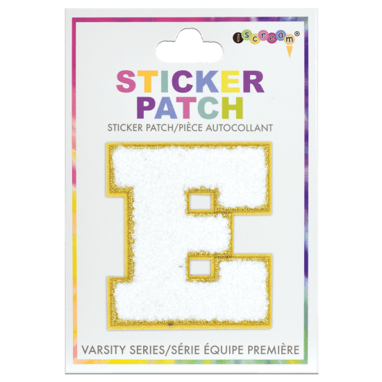 Picture of E Initial Varsity Sticker Patch