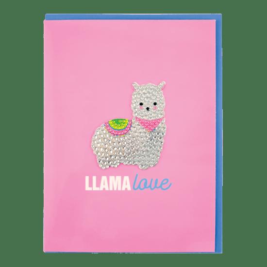 Picture of Llama Rhinestone Decal Greeting Card