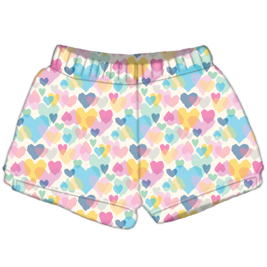 Picture of Pastel Hearts Plush Shorts