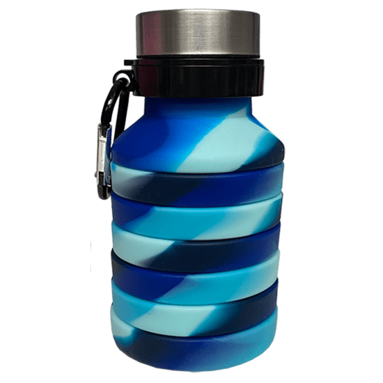 Picture of Ocean Waves Collapsible Water Bottle