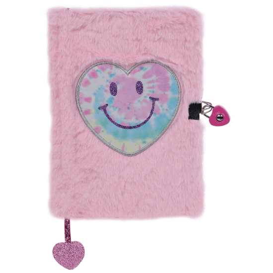 Picture of Heart Tie Dye Lock and Key Furry Journal