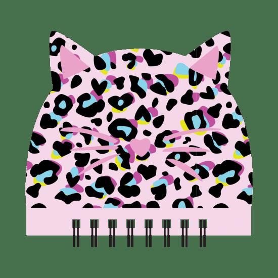 Picture of Pink Leopard Glitter Mini Notebook