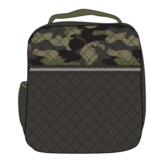 Picture of Green Camo Quilted Lunch Tote