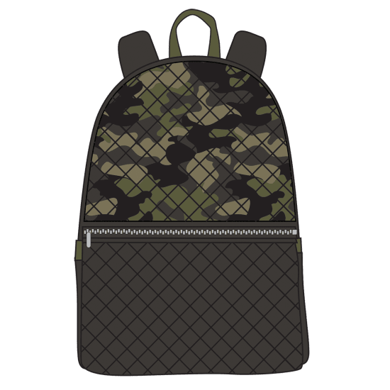 Picture of Green Camo Quilted Backpack