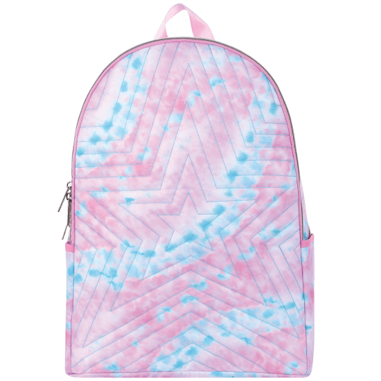 Picture of Silver Star Tie Dye Quilted Backpack