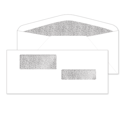Picture of Gum Seal Double Window Envelopes