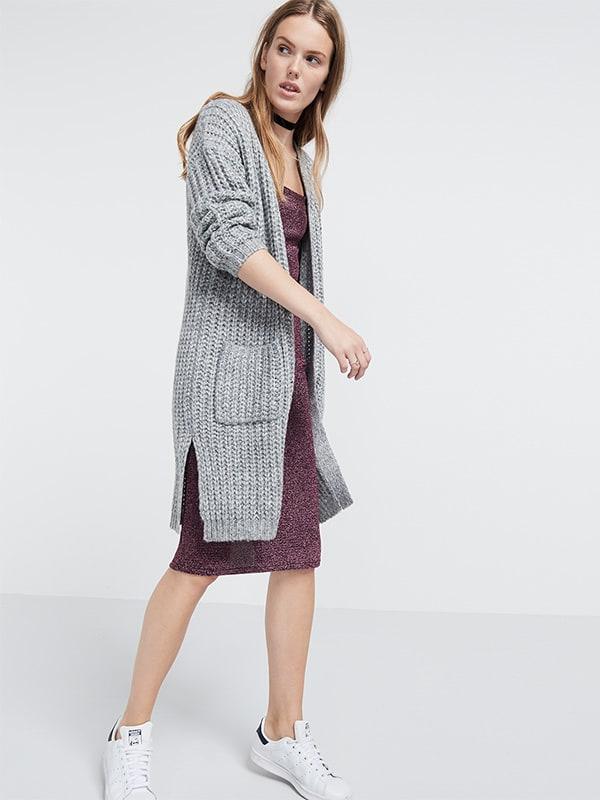 Chunky knit longline cardi