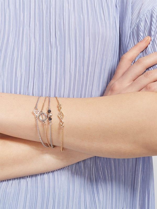 Diamonds/Circles Stacking Bracelets