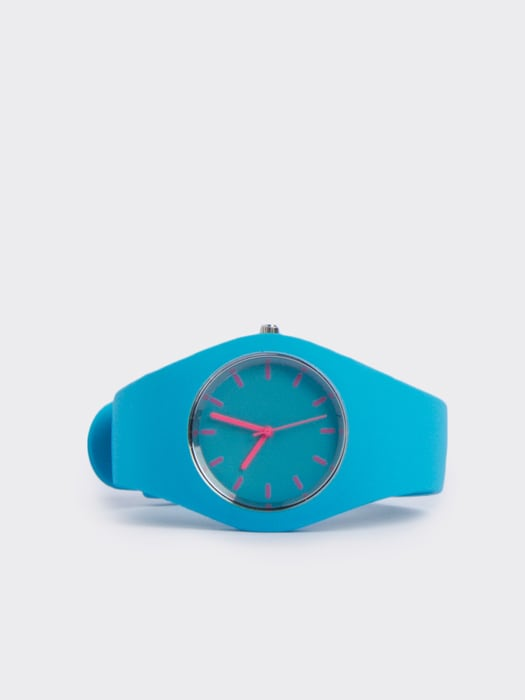 Lola Electric Turquoise Silicon Watch