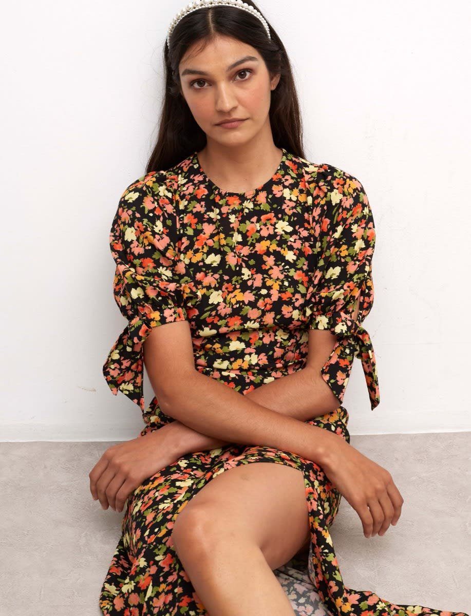 Lenzing™ Ecovero™ Multi Floral Esme Midi Dress