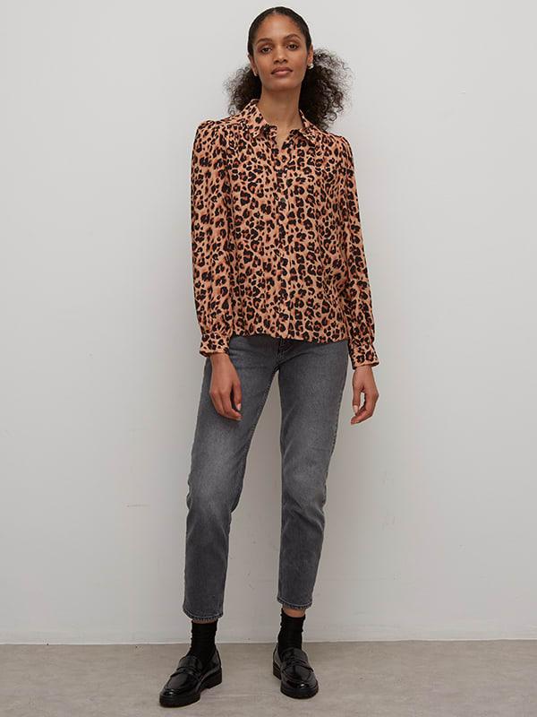 LIVAECO BY BIRLA CELLULOSE TM Brown Leopard Zara Shirt