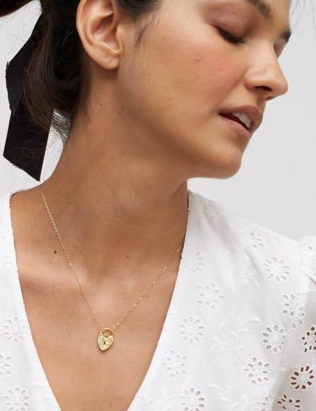 Amme Heart Padlock Necklace