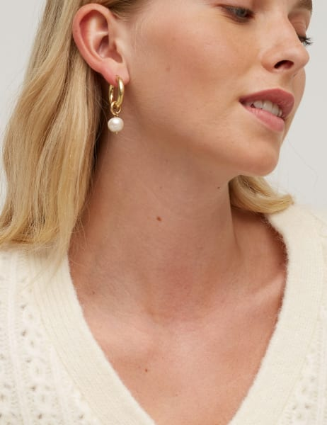 Amme Freshwater Pearl Hoops