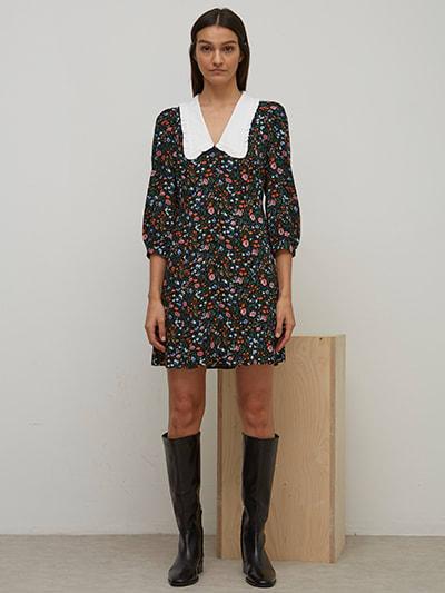 LENZING TM ECOVERO TM Floral Colette Mini Dress