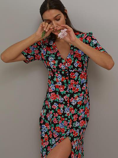 LENZING TM ECOVERO TM Bright Floral Alexa Midi Dress