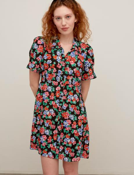 Ellen Mini Shirt Dress