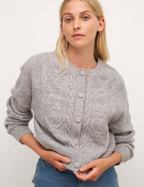 Chunky Cable Stitch Cardigan