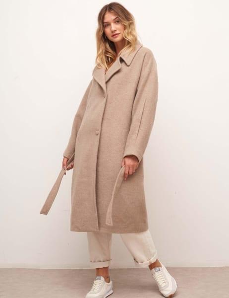 Hadrian Belted Long Wool Coat
