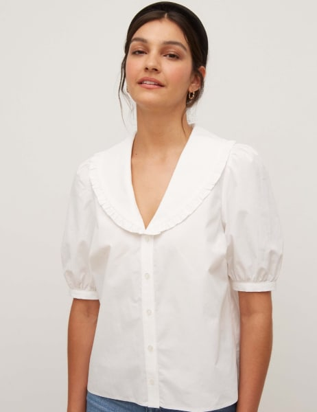Emmie Short Sleeve Collar Shirt