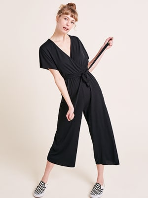 Carly Rib Wrap Jumpsuit