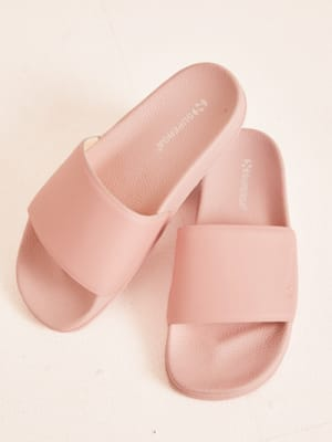 Blossom Pink Superga Pool Slides