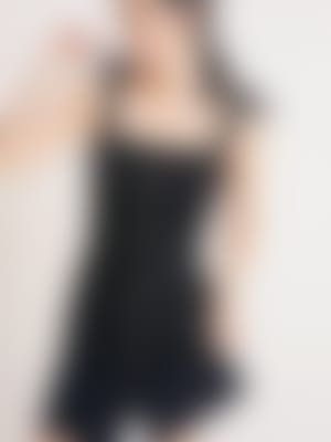 Black Lily Linen Blend Mini Dress