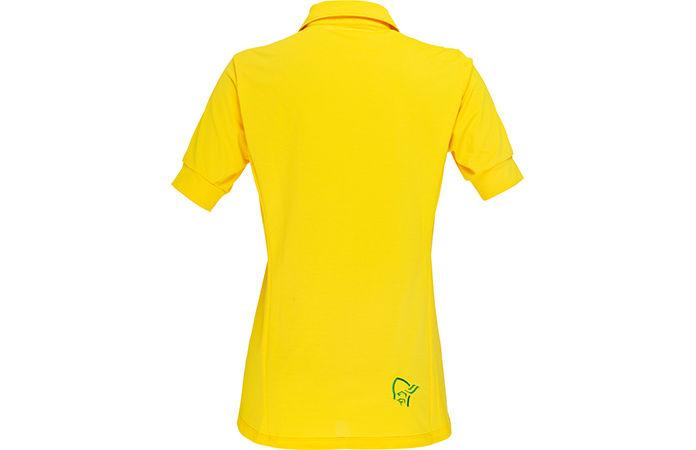 fjørå t-shirt for women in yellow