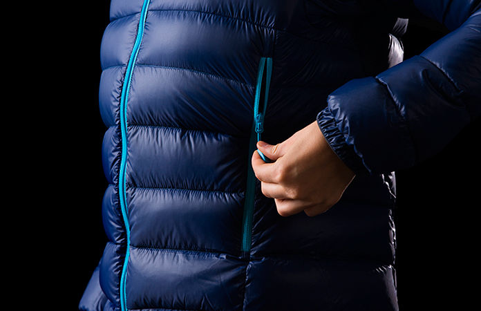 Norrøna lyngen lightweight down750 jacket - pockets