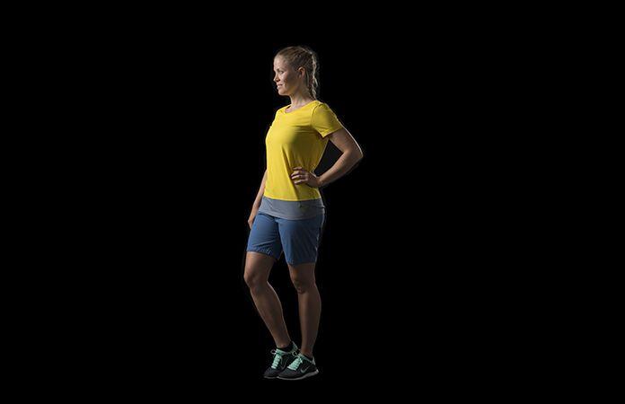 Norrøna horisontal stripet t-skjorte i økologisk bomull til dame