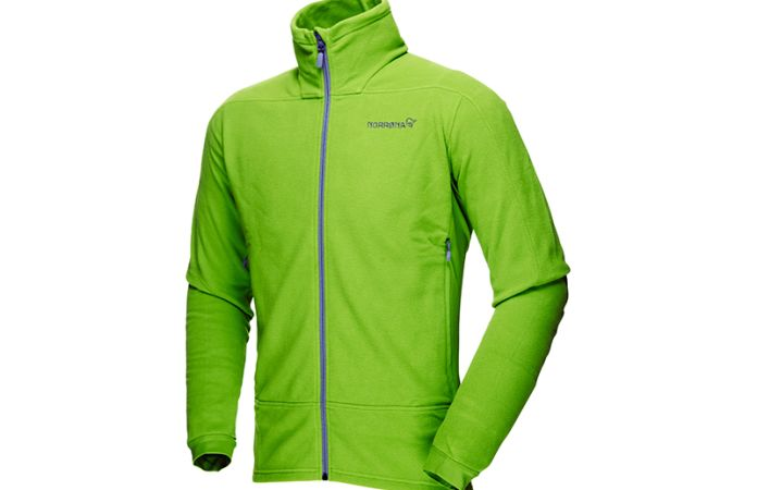 Norrona falketind warm1 jacket with polartec stretch fleece for men