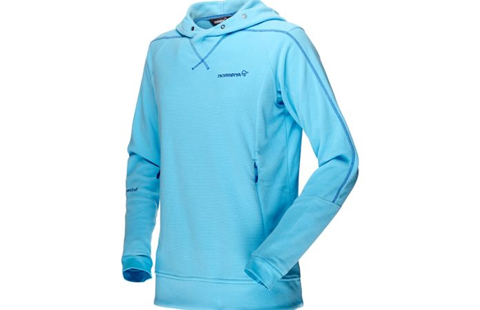 Norrona falketind warm1 hoodie fleece for women with Polartec