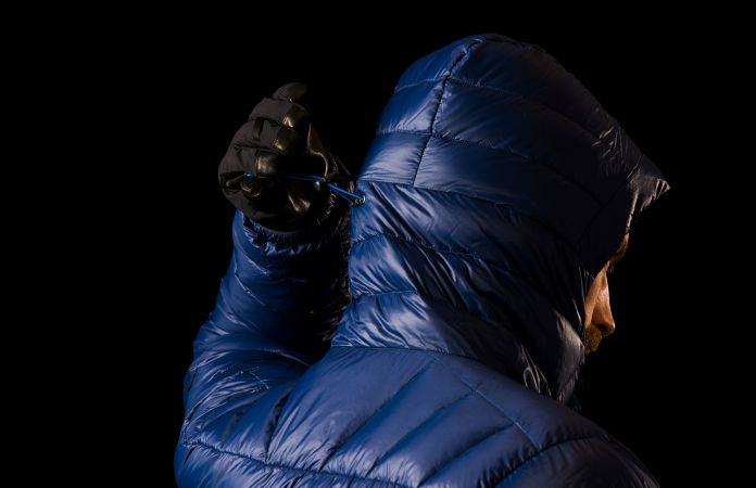 Norrona lyngen lightweight down750 ski touring jacket - one hand adjustment