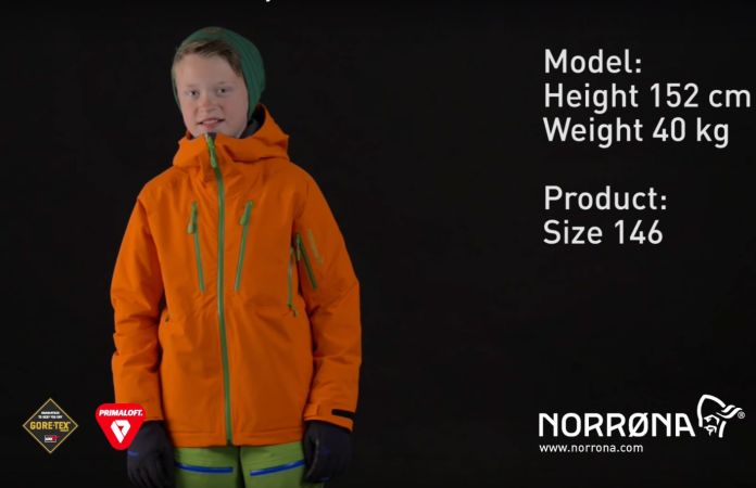 Norrona lofoten kids insulated jacket