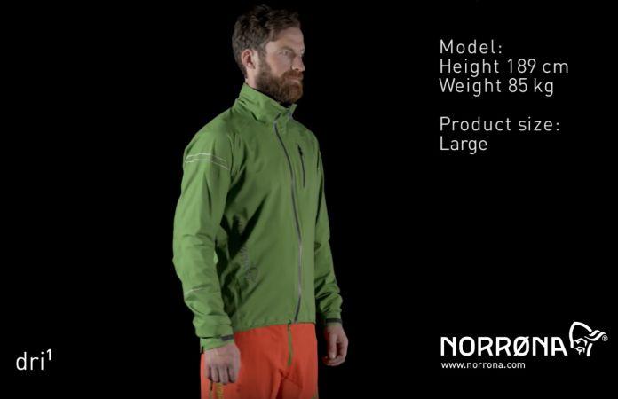 Norrona fjora dri1 jacket for biking