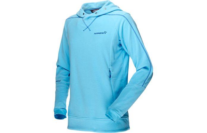 Norrona falketind warm1 hoodie fleece for women with Polartec