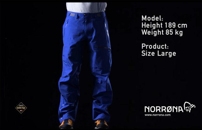 Norrona climbing pants for men Gore-Tex