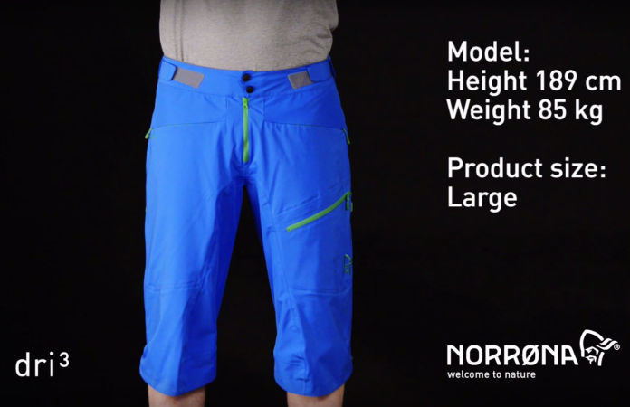 norrøna fjørå waterproof shorts for biking
