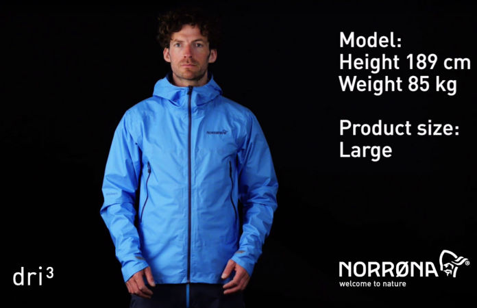 norrøna bitihorn mens waterproof jacket for hiking
