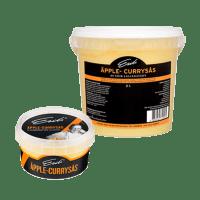 Eriks Äpple-Currysås - finns i två förpackningsstorlekar