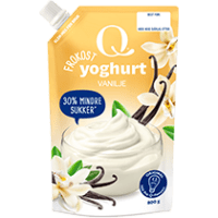 Deilig yoghurt med vaniljesmak.