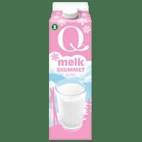 Q skummetmelk er frisk og helt fettfri.