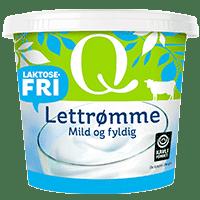 Q Lettrømme laktosefri