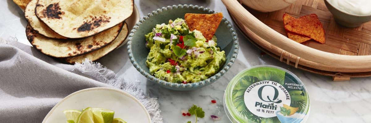 Denne guacamolen med Q Planti er ekstra kremet og god.