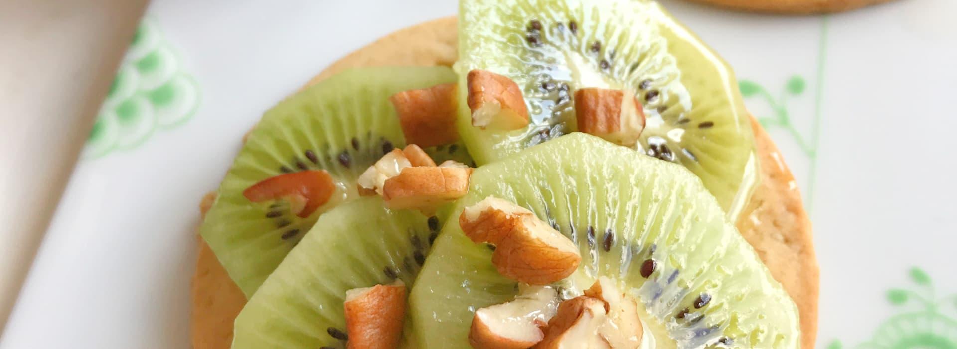 Sibas Havrekjeks med grønn te, frukt og bær