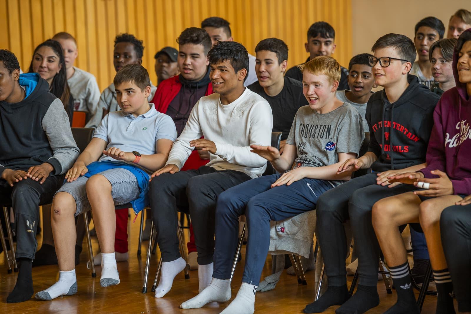 46 gutter deltok på Guttas Campus læringscamp i Oslo i 2019